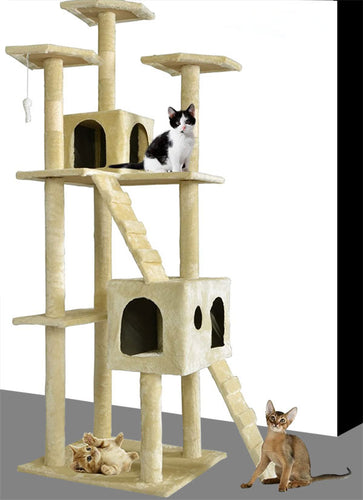 Cat Climbers Play House, Made of E1 Grade Particleboard