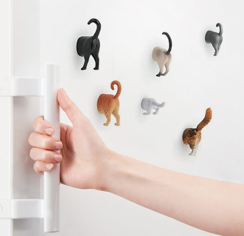 Cat Butt Magnets by Kikkerland, 6 Different Breeds