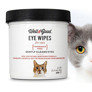 Well & Good Cat Eye Wipes, Frangrance Free
