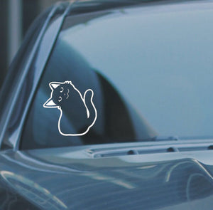 Cat Facing Left, Car Vinyl Decal Sticker