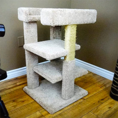 Cat Furniture Carpet Tree with Solid Wooden Posts