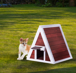 Weatherproof Cat Red Condo Shelter