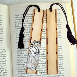 Cat Illustrated Premium Wood Bookmark