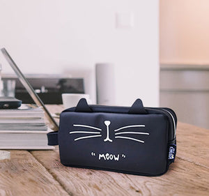 Cat Silicone Pencil Pouch Zipper Box