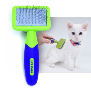 Li'l Pals Cat Slicker Brush, Features Flexible Pins with Plastic Tips