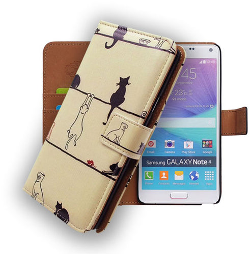 Cats on the Floor Leather Wallet Case For Samsung Galaxy S5