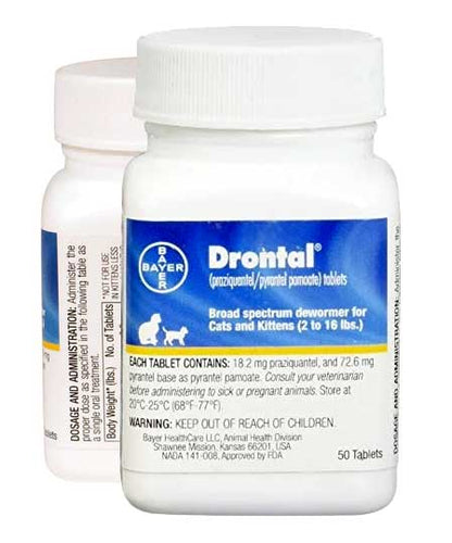 Bayer Drontal Broad Spectrum Dewormer for Cats  Edit alt text