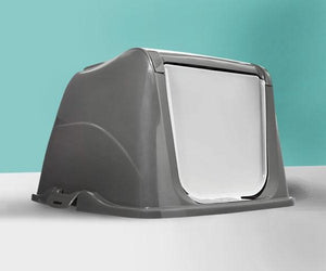 Flip Top Cat Litter Box Hood by So Phresh, Large, Easy-to-carry  Edit alt text