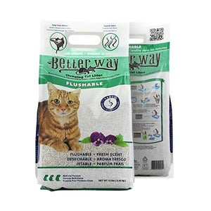 Flushable Cat Litter by Better Way, 100% Zeolite Clay  Edit alt text