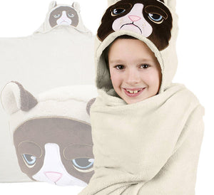 Grumpy Cat Pillow and Blanket