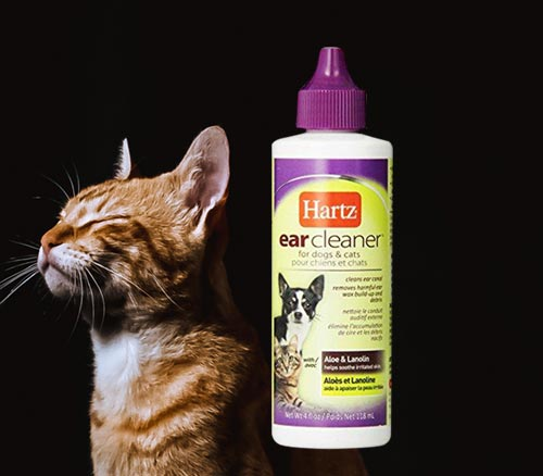 Hartz Ear Cleaner, Formulated with Aloe and Lanolin