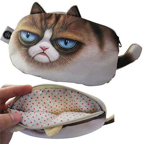 Humorous Grumpy Cat Pencil Case