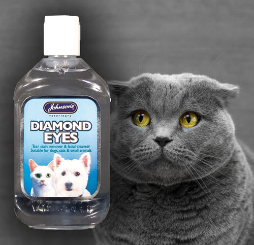 Johnsons Diamond Eyes Cat & Dog Tear Stain Remover 3.52 ounces  Edit alt text