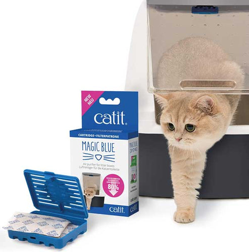 Magic Blue Air Purifier for Litter Boxes by Catit  Edit alt text
