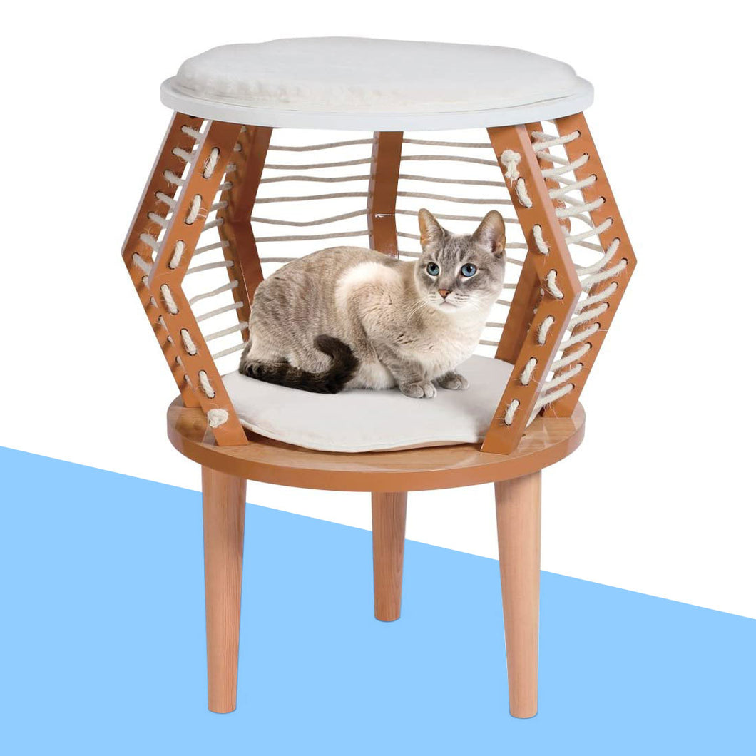 Modern Wood Design Cat Perch