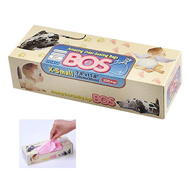 Odor-Sealing Disposable Bags by BOS, X-Small