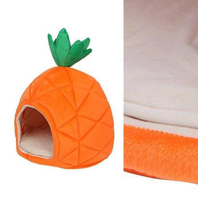 Pineapple Design Orange Cat House