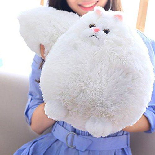 White Fat Cat Plush Toy  Edit alt text