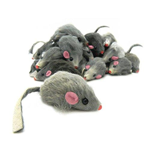 Real Rabbit fur Mice Toy for Cats