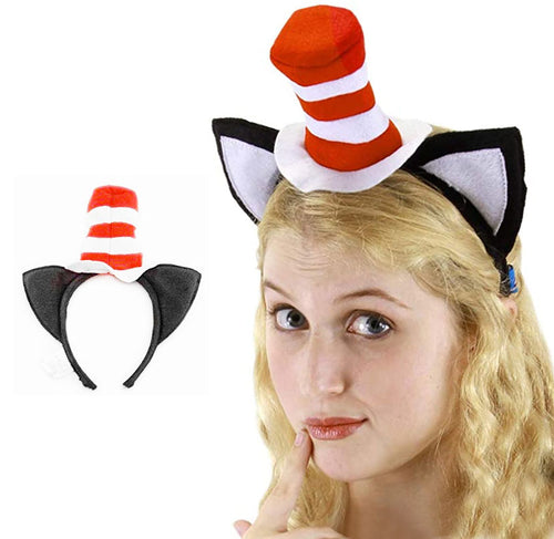 Cat in the Hat Headband with Ears by Elope, Licensed by Dr. Seuss