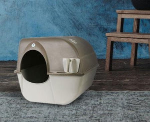 Self-Cleaning Litter Box by Omega Paw, Takes No Electricity  Edit alt text