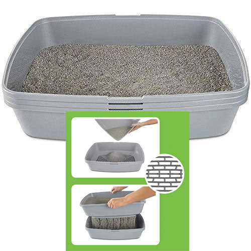 Grey Self-Sifting Litter Box from So Phresh