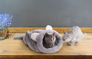 Self-Warming Cat Bed with Big Ears