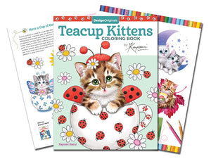 Teacup Kittens Coloring Book, Have a Cup of Cuteness, 80 pages