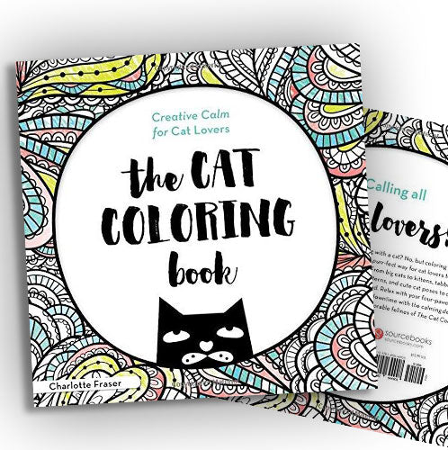 The Cat Coloring Book: Creative Calm for Cat Lovers, Sourcebooks