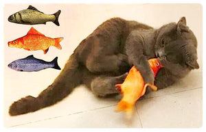 Three Realistic Catnip Fish Toys