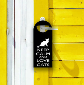 "Typographic Clip-On Bookmark: Keep Calm and Love Cats, 2""x""5.5"
