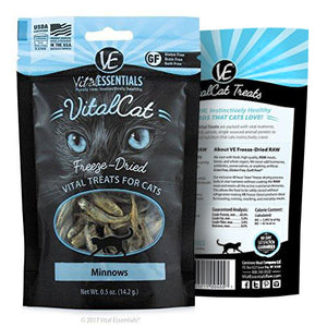 Vital Essentials Freeze-Dried Vital Cat Treats Minnows, 0.5 oz
