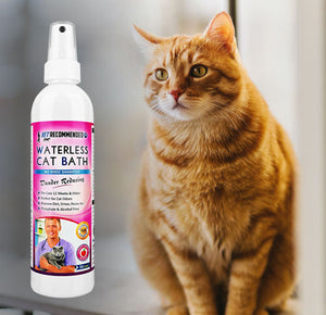 Waterless Cat Bath, No Rinse Shampoo for 12 Weeks or Older Cats