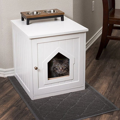 White Wood Decorative Cat House