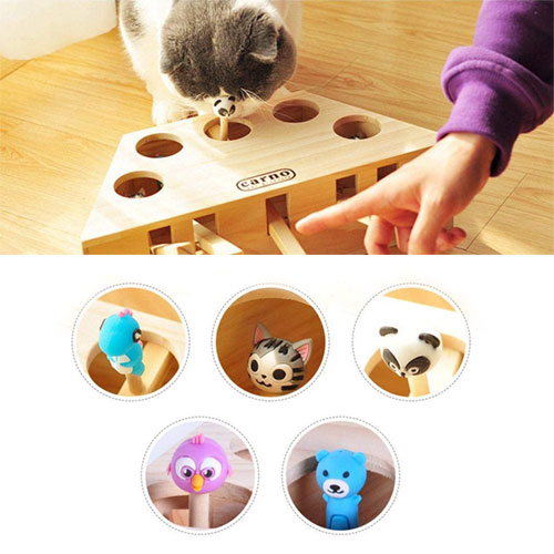 Wood Interactive Puzzle Cat Toy