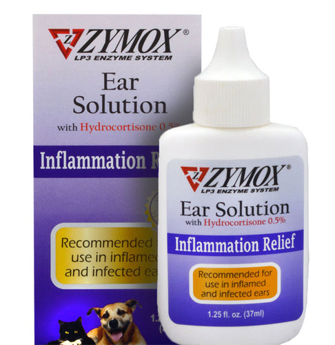 Zymox Enzymatic Ear Solution for Dog & Cat, Inflammation Relief  Edit alt text