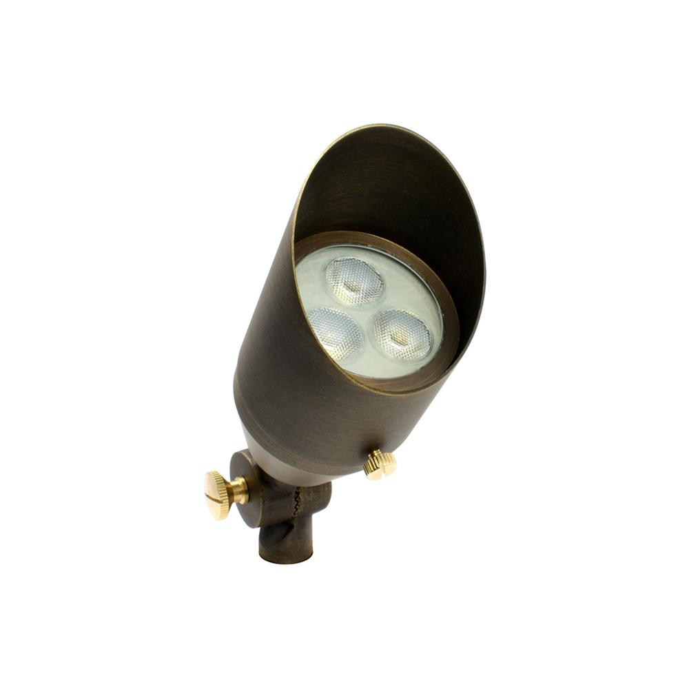 Classic White 3W Brass LED Up Light