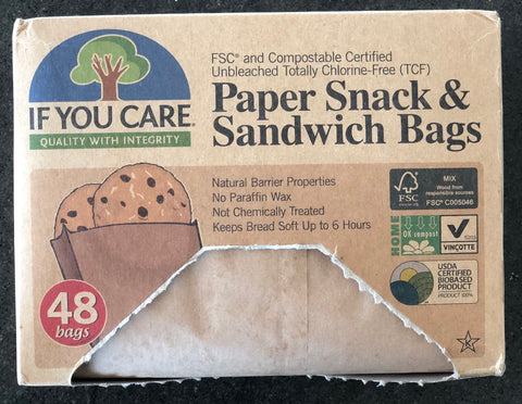 if you care compostable paper snack bags