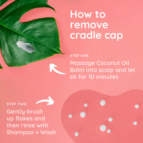 How to Remove Cradle Cap with Bubbsi Coconut Oil Products