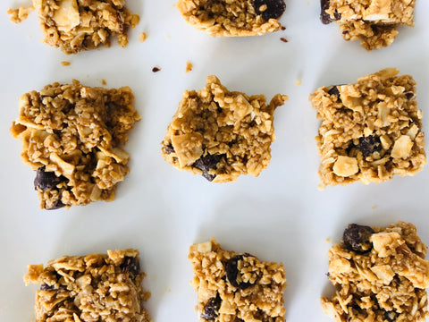homemade granola bites with kids