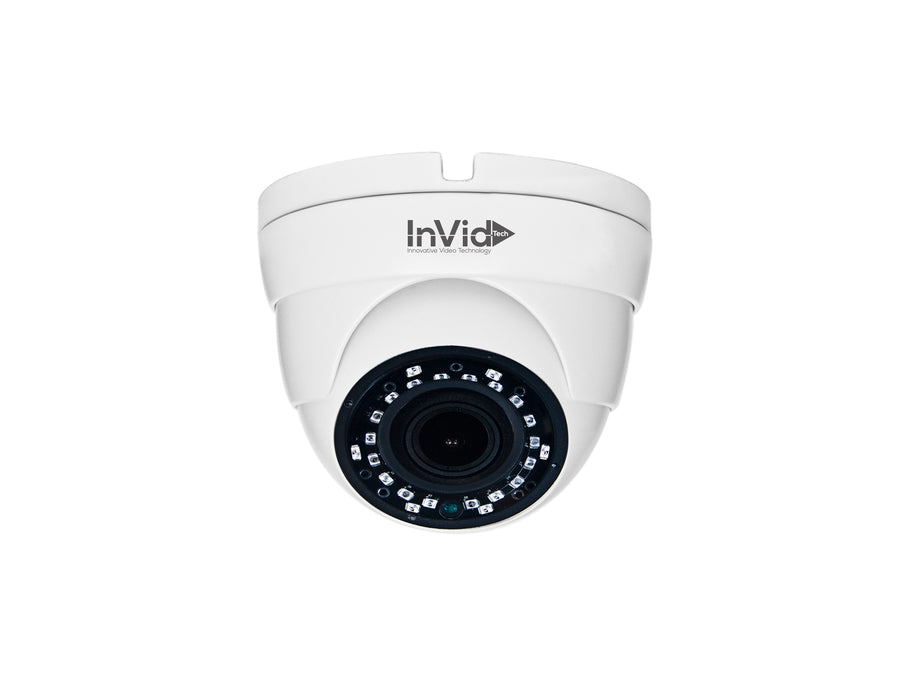 PAR-ALLTXIRA2812D: 2 Megapixel TVI/AHD/CVI/Analog Outdoor Turret Camera  2.8-12mm A/F Motorized, 65' IR Range, Dual Voltage