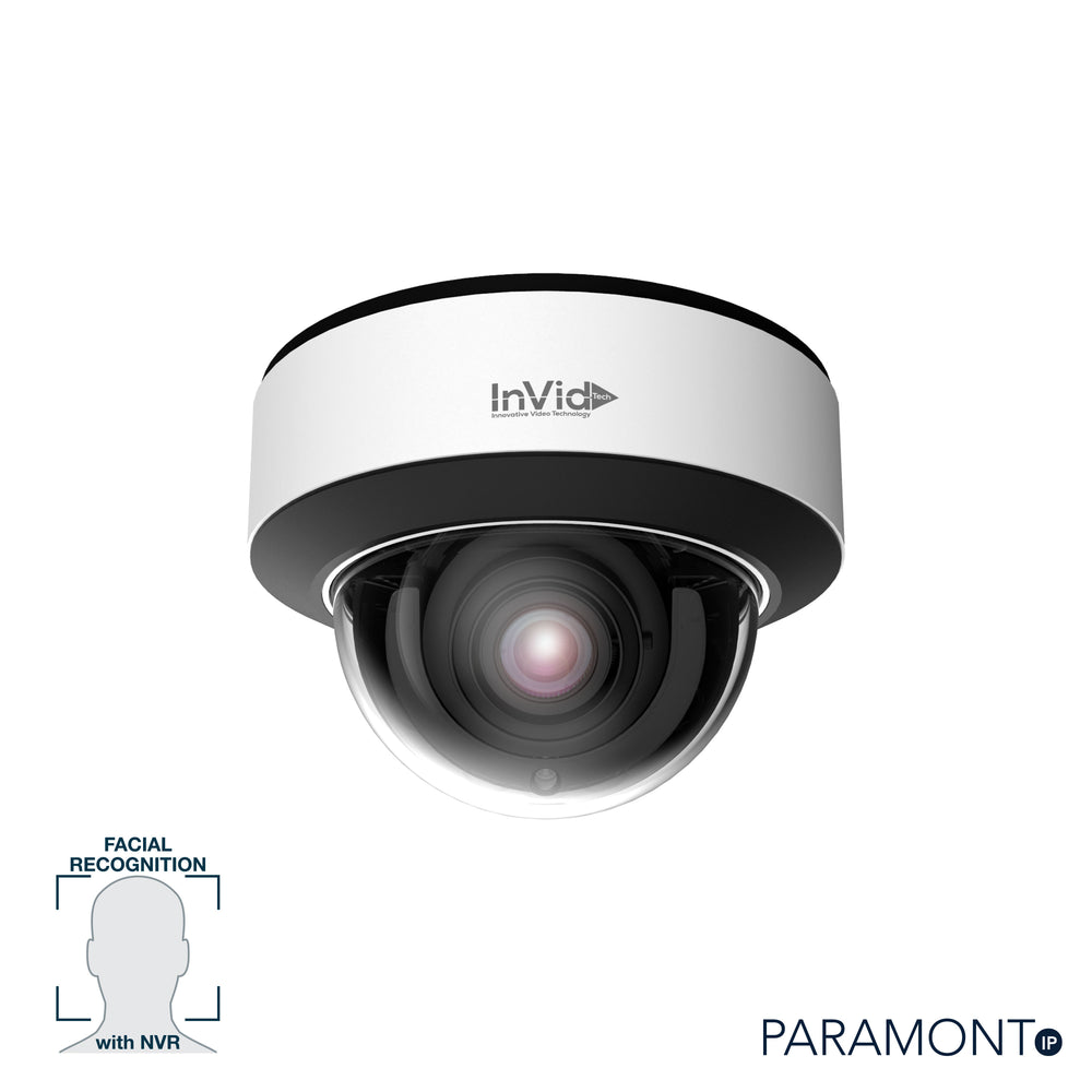 PAR-P5DRIRA3312N: 5 Megapixel Dome, 3.3-12mm A/F Motorized, Facial Rec