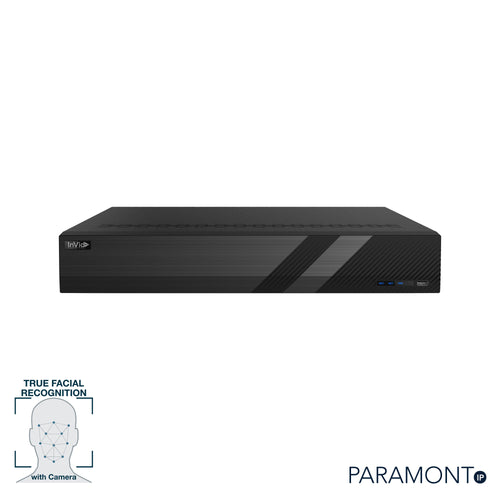 PN1A-32X16F: 32 Channel NVR with 16 Plug & Play Ports, Facial Recognition