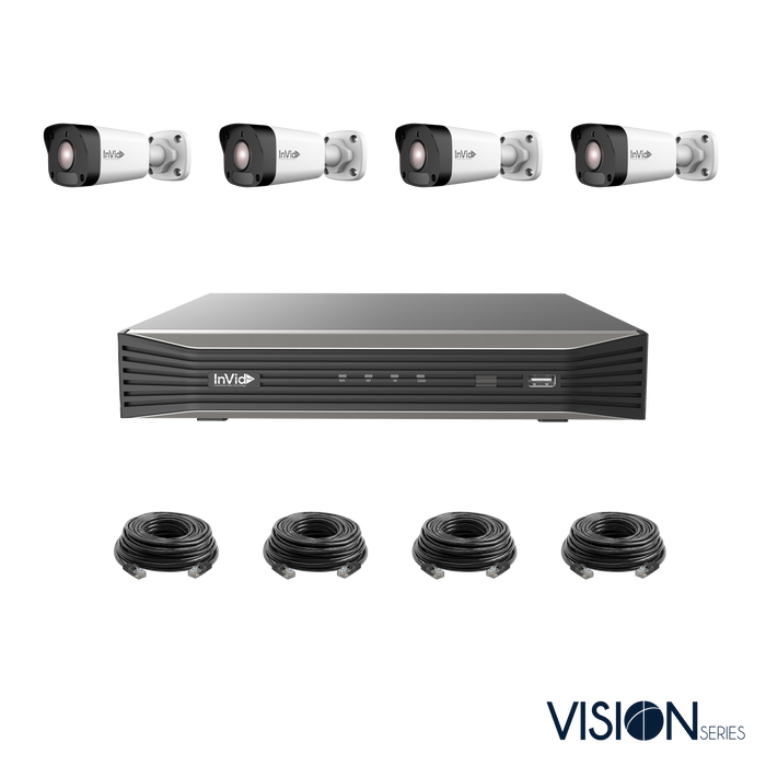 VIS-4KIT-1: 4 Camera, 4 Megapixel IP Plug & Play Kit