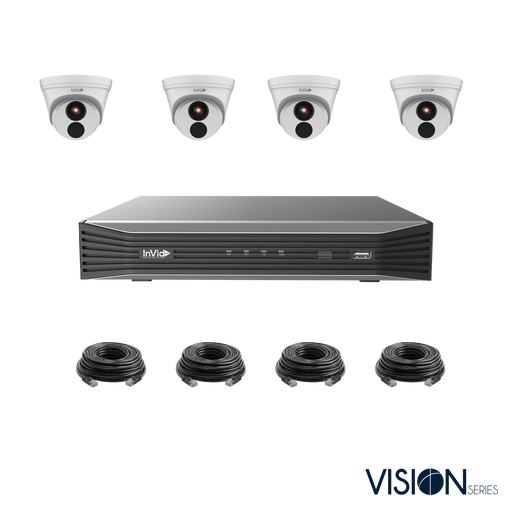 VIS-4KIT-2: 4 Camera, 4 Megapixel IP Plug & Play Kit