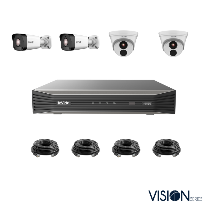 VIS-4KIT-3: 4 Camera, IP Plug & Play Kit