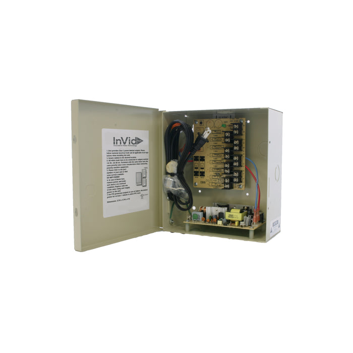 IPS-DCR8-8-2UL: 12VDC 8 Ch, 8 AMP Power Supply