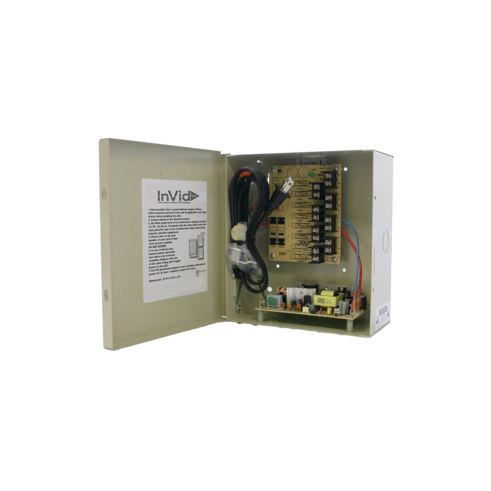 IPS-DCR4-8-2UL: 12VDC 4 Ch, 8 Amp Power Supply