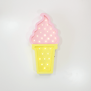 Iluminación decorativa helado rosa y amarillo - Made in Joyland