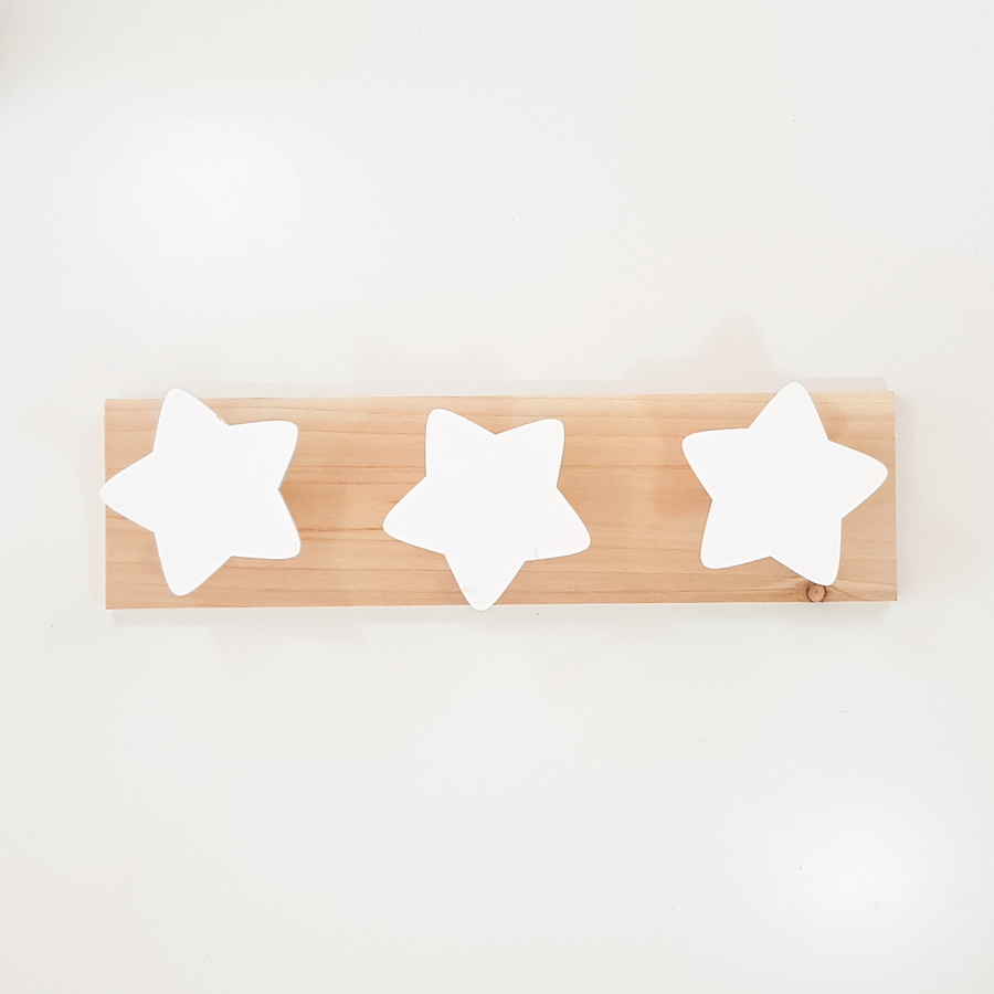 Perchero madera estrellas blanco - Made in Joyland